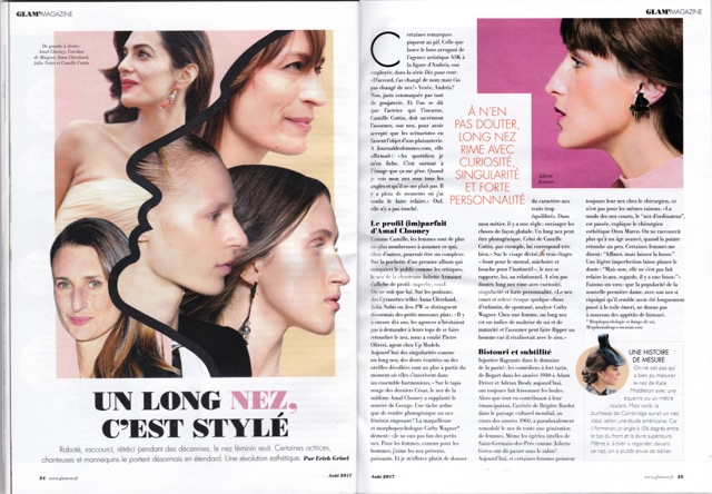 Article glamour aout 2017
